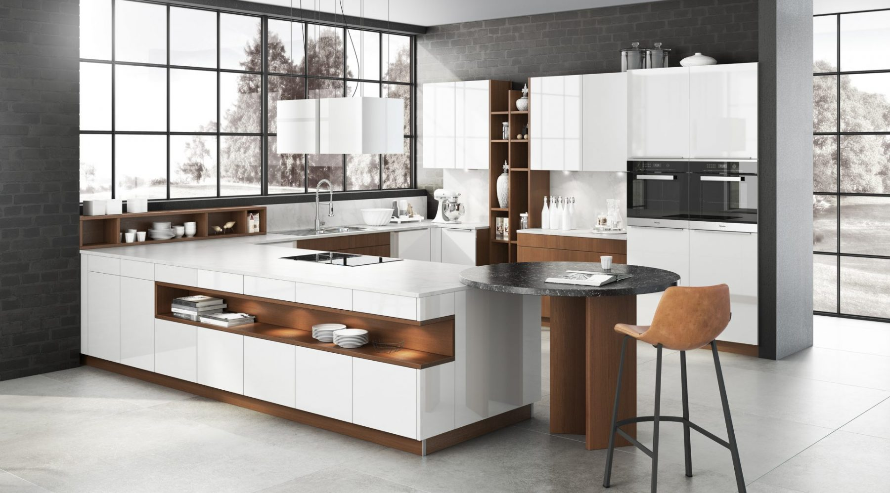 Bauformat-Küche-Weiss