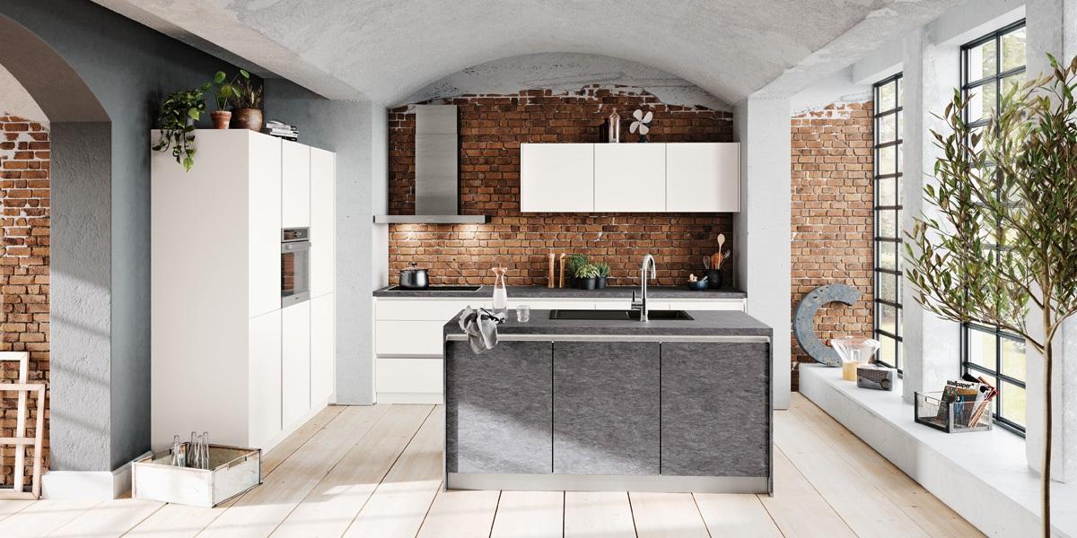 Impuls-Küche-Felsgrau