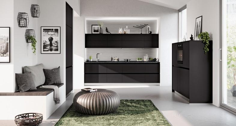 Impuls-Küche-schwarz-matt