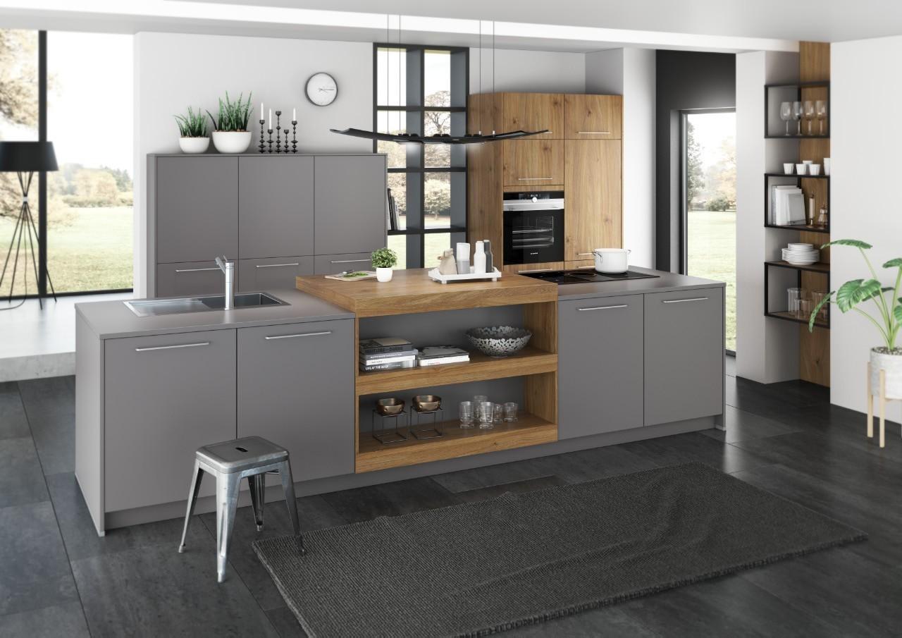 Artego Küche mit Holz