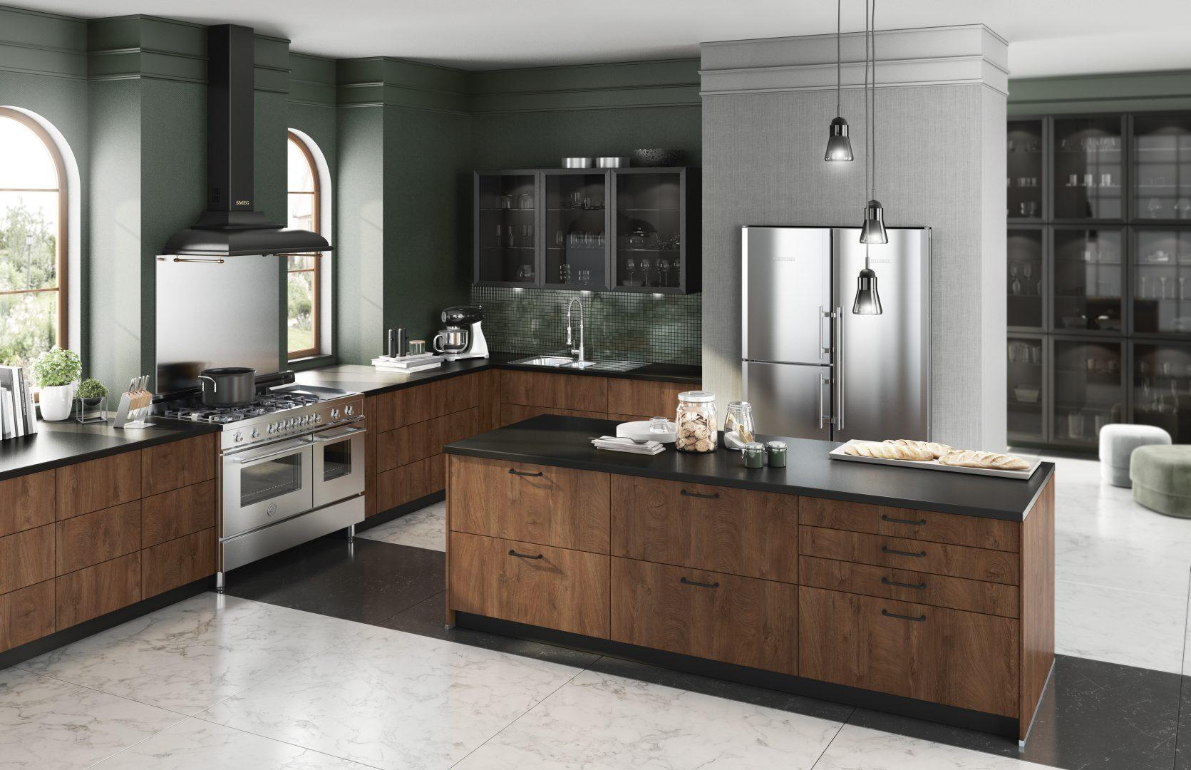 Bauformat-Küche-Holz-Dunkel