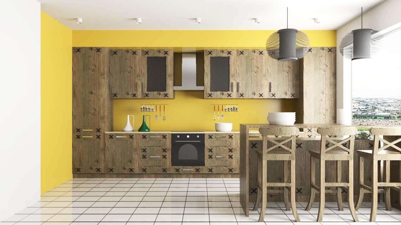 Holzküche design
