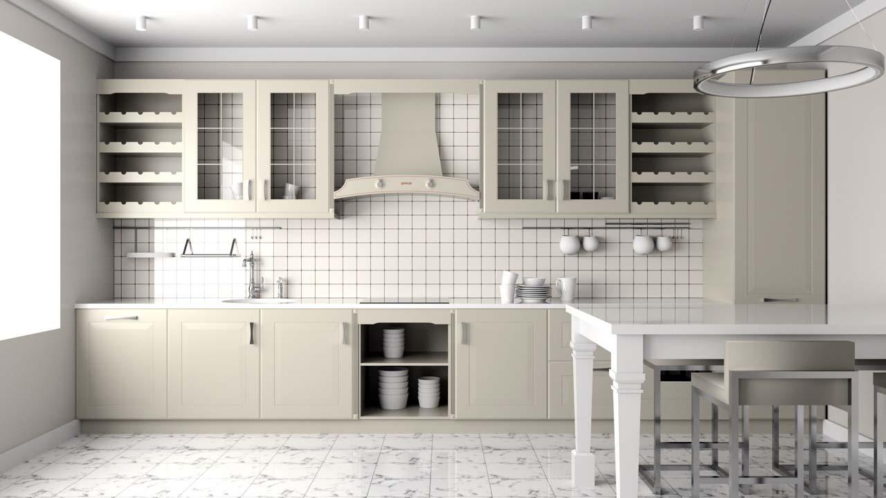 Holzküche Landhaus
